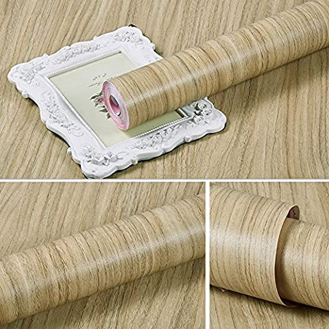 LoveFaye Rustic Wood Grain Contact Paper Peel & Stick Shelf