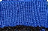 Confort-Home - Copriletto mod. Foulard, multiuso, adatto per divano a 2/3posti e letto da 90, 135/150 cm, color platino,realizzato in Spagna 125_x_180_cm Blu navy