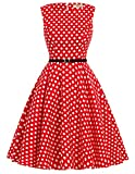 Damen festliches kleid ärmellos sommerkleid damen vintage rockabilly kleid swing dress Größe L CL6086-46