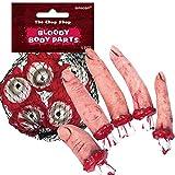 10-Teiliges Deko-Set * Blutige KÖRPERTEILE * mit Augäpfeln und Fingern für Halloween Oder Eine Motto-Party // Augen Blut Dekoration
