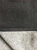 Wolldecke, Wendeplaid anthrazit/grau mit Kaschmir Anteil, Made in Germany (150x200)