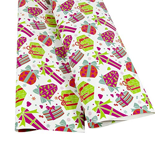 Bescita Weihnachtspapier Ausgewählte Serien schönes Geschenkpapier Weihnachten, Hochwertige Geschenkverpackung mit Sterne für Geburtstage, Ostern oder Weihnachten - 3 Rollen (G)