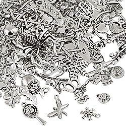 Naler 120 x Charms Anhänger Retro Antik Silber Mischung für Schmuck Basteln