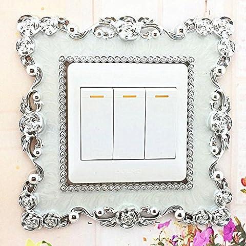 Wandaufkleber, Lanspo Creative Aufkleber Home Switch Cover Square Shape Switch Wandleuchte Socket Aufkleber Room Decoration Vogue