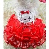 Sypure (TM) netter Bogen-Hundekleid Tutu Rock-Sommer-Welpen-Kleidung Prinzessin Dog Wedding Dress XS-XXL - 2