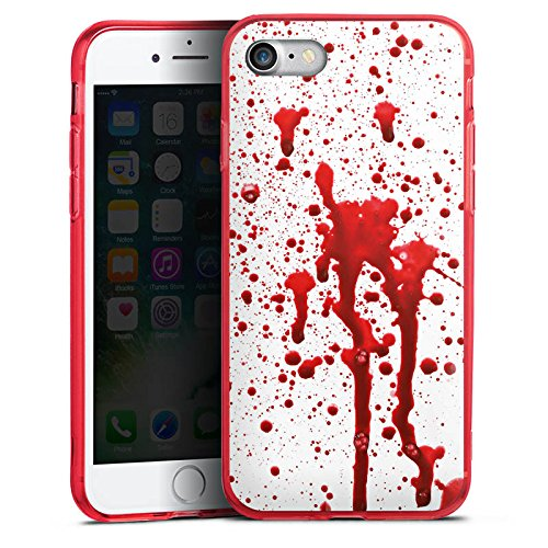 Apple iPhone 7 Silikon Hülle Case Schutzhülle Blut Halloween Gothic Silikon Colour Case rot