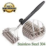 """Seleware Innovative 17.7"""" Grill Brush, Stainless Steel 304 BBQ Grill Brush, 100% Rust Resistant Grill Cleaner Bristle Free with Confortable Handle for Ceramic, Steel, Iron Great Grilling Accessories"""