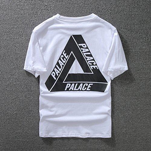 BOMOVO Herren PLACE T-Shirt Rundhals-Ausschnitt Shirt Weiß