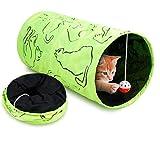 لعبة نفق القطط قابلة للطي مزودة بكرة جميلة معلقة لتدريب القطط والارانب للاستخدام الداخلي والخارجي
