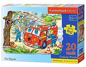 CASTORLAND Fire Brigade 20 Maxi pcs Contour Puzzle 20 Pieza(s) - Rompecabezas (Contour Puzzle, Dibujos, Preescolar, Niño/niña, 4 año(s), Interior)