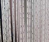 Yiyida 2pcs Glitzer Tassel String Line Tür Fenster Vorhang Paravent Fenster Behandlungen Wohntextilien ,100cm B x 200cm H Weiß