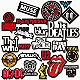 World2U Rock/Metal Band Logos Stickers for Electric, Acoustic Guitar, Laptop