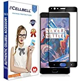 #8: Cellbell TM OnePlus 3/3T - full covered(BLACK) 9H Premium Tempered glass screen protector with FREE Installation Kit(80% OFF LAUNCH OFFER)