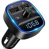 [Versione 2021] LENCENT Trasmettitore FM Bluetooth, FM Trasmettitore per Auto Radio Adattatori Vivavoce Car Kit MP3…