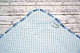 Spültuch aus Bio-Baumwolle, Spüllappen, Wischtuch reinigen, umweltfreundlich, ökologisch, spülen, abwaschen, Haushalt, hellblau blau Punkte