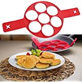 MK Non Stick Silicone Pancake Pan Flip Perfect Breakfast Maker Assorted Color