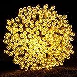 400 Led Lichterkette Strombetrieben mit Stecker Außen und Innen Warmweiß Gresonic (400LED Warmweiss, Dauerlicht)