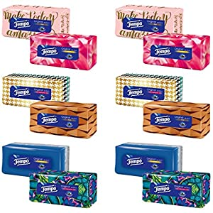 Tempo Original Duo-Box Taschentücher, 4-lagig Riesenpackung (6 x 2 Boxen x je 80 Tücher)