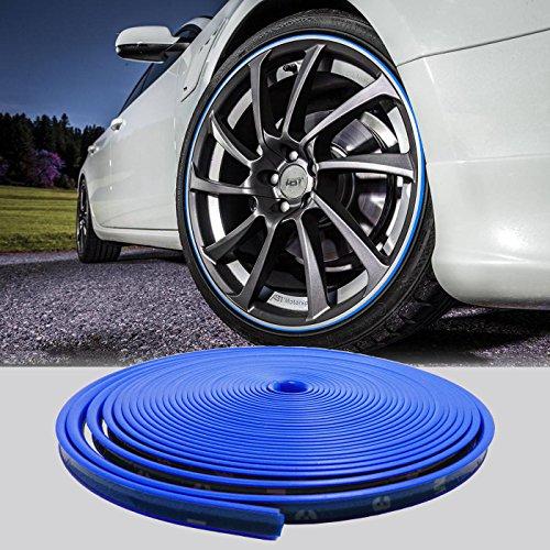 sk-e-shopping 8m 26ft Länge Auto Radnabe Edge Ring Anfahrschutz Tape Selbstklebende universal Stil Reifen Tire Guard Zubehör Blau (Universal-wärme-strip)