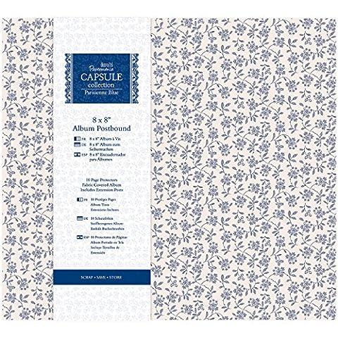 Papermania Parisienne Blue Postbound Album 8