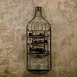 Willesego Wandregal Loft Retro-Stil Eisen Wandbehang Regal für Wohnzimmer Cafe an der Wand Dekoration Weinregal (Größe: schwarz) (Farbe : -, Größe : Schwarz)