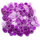 Bingo Chips magnetisch, 300Stück, violett