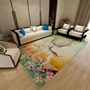 ZTBXQ Carpets For Living Room Home Decor Floor Rugs Washable Mats Bedroom Bedside Rugs Anti-Slip Office Chair Area Rug