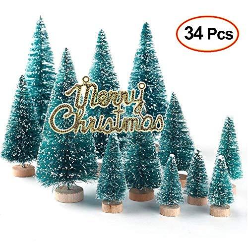 Lulalula - mini alberi di natale artificiali, con luci multicolore, da tavolo, per decorazioni fai-da-te, dai 46 ai 61 cm (18/24