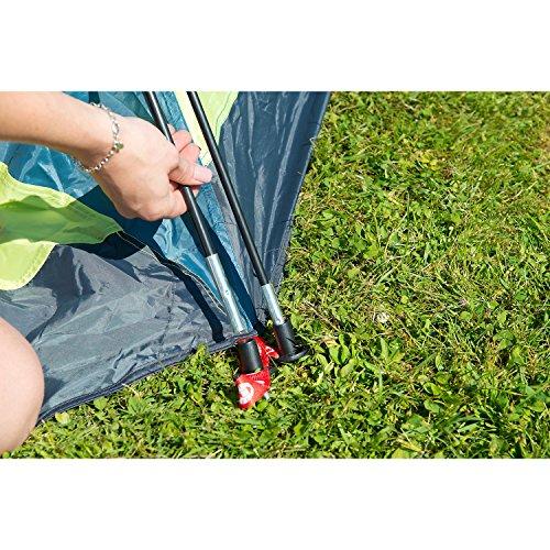 Coleman Fast Pitch Drake, Zelt 4 Personen, 4 Mann Zelt, Igluzelt, Festivalzelt, leichtes Kuppelzelt mit Vorzelt, eine Schlafkabine, wasserdicht WS 3.000 mm - 9