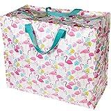 LS Design XXL Jumbo Bag Einkaufstasche Shopper Riesentasche Tasche Allzwecktasche recycled Flamingo Rosa/Pink 55x48x28cm LS-LebenStil