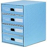 Bankers Box Style - Módulo con 4 cajones, azul y blanco