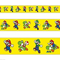 Gifts 4 All Occasions Limited SHATCHI-893 foil Party Banner-Super Mario, Multi