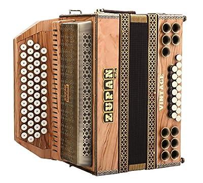 Zupan Vintage IVD Harmonica Olive G-C-F-B (Maple Serie, 48 Diskantknöpfe, 16 Bassknöpfe, Mollbässe, H- und XBass entkoppelt, inkl. Koffer)