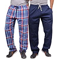 Luke and Lilly Mens Pyjama,Sleepwear,Track Pant,Bottoms - Pack of 2 (Small, Combo 5)