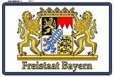 Freistaat Bayen Wappen löwe metal sign deko schild blech projekt