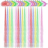 El pelo de la fibra del LED enciende para arriba el sistema de los barrettes del pelo de 18, MAXIN Muliticolor Flash Barrettes Clip Trenzado- Partido Favorable