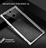 #10: SmartLike EXLUSIVE Silicon TRANSPARENT With Anti Dust Plugs Shockproof Slim Back Cover Case For Sony Xperia L2 Dual