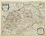 Historische Karte: Sachsen - Thüringen - Anhalt 1696 - Le cercle de la Haute Saxe, ou sont compris le Duche et Eslectorat de Saxe, les Marquisats de ... le Landgraviat de Thuringe etc. (Plano) - Alexis H. Jaillot