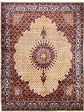 Morgenland Teppiche 412 x 314 cm Orientteppich Beige Handgeknüpft Gemustert
