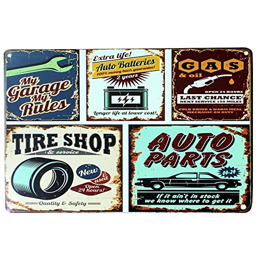 Retro Metal tin Signs nostálgico placa de coche placas reparación de