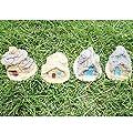 LJY 4 Stück Miniatur-Fee-Garten Steinhäuser - Mini-Fee Ferienhäuser für Garten & Terrasse Dekoration - Zubehör für Hauptdekoration Gartendekoration von LJY auf Du und dein Garten
