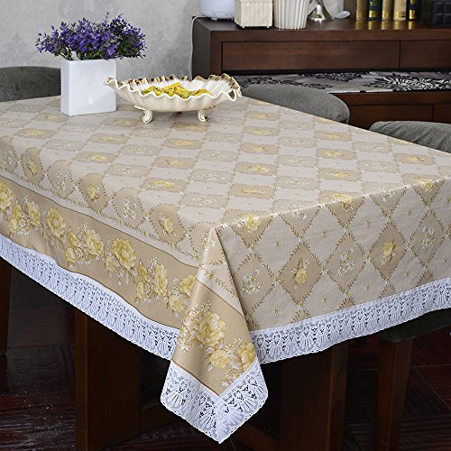 Flannel Backed Vinyl Tablecloth Indoor Outdoor Multi Functional