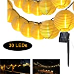 Solar Lantern String Lights Warm White Decorative Light Waterproof Night Light Party Lamp for Indoor Home BedroomOutdoor...