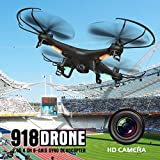 RC Drone Quadcopter, Foldable FPV RC With HD Wifi Dual Camera 4CH 4-Axis Gyro Image Following V Gesture Self for ios Android