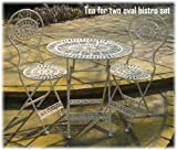Tea for Two Oval Bistro Set