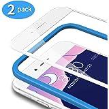TAMOWA [2-pack skärmskydd för iPhone 8 Plus/7 Plus (5,5 tum), 3D härdat glasskydd 9H heltäckande film med installationsram, a