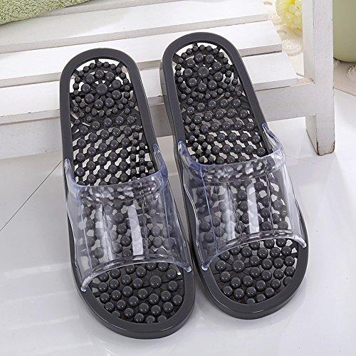 Pantofole da bagno domestiche Pantofole da bagno antisdrucciolevoli per uomini e donne Uomo e donna pantofole per coppie di casa invernale invernale Pantofole da massaggio (5 colori opzionali) (dimens E