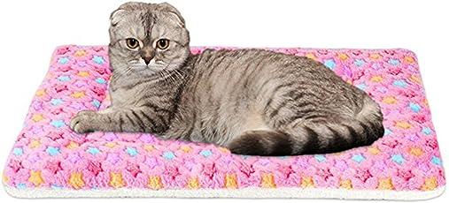 WYSBAOSHU Warm Hundedecke bunter Stern Hund Katze Mat