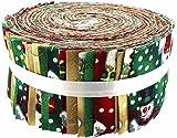 Stoff Freiheit Vintage Schneemann Freiheit Rolle, 100% Baumwolle, mehrfarbig, 13x 13x 7cm