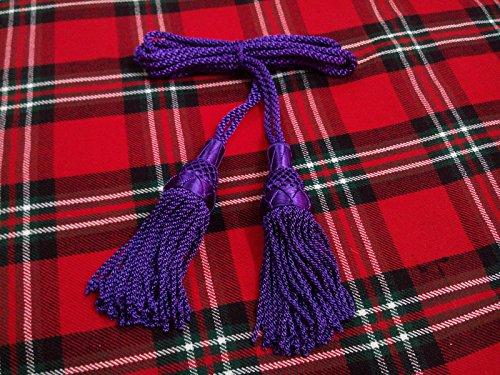 New Highland Dudelsack Drone Kordel Seide lila Farbe-Schottischen Dudelsack Seidenband